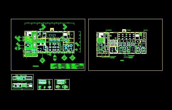 中式餐厅室内设计施工图CAD