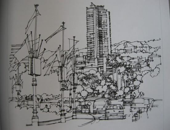 图纸 建筑图纸  经典手绘设计图   建筑景观手绘,对提高室内及景观