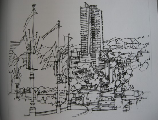 景观手绘效果图 展厅手绘效果图 景观小品手绘效果图  所属分类:建筑