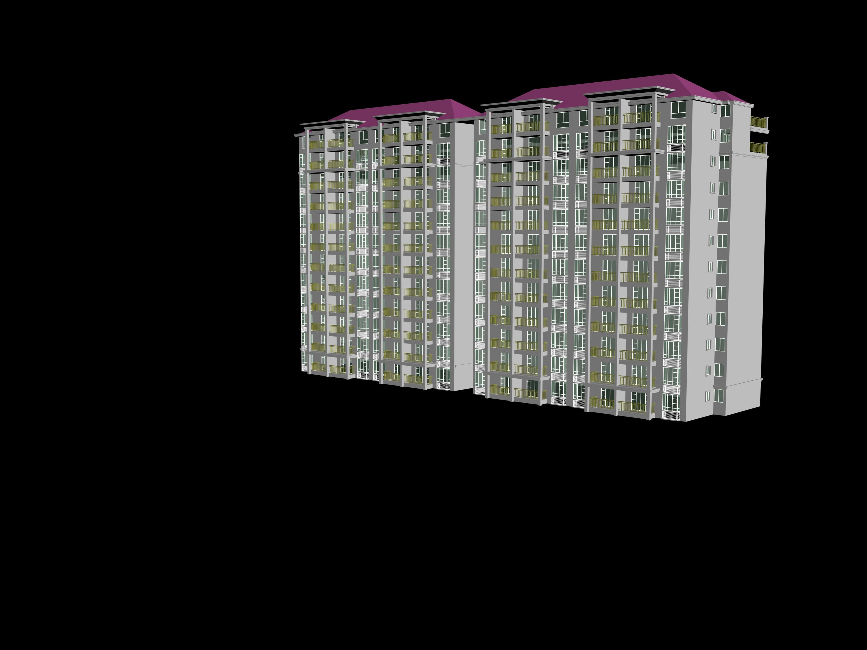 华北某小高层住宅楼地板辐射采暖暖通设计图 某地6层+阁楼框架住宅楼