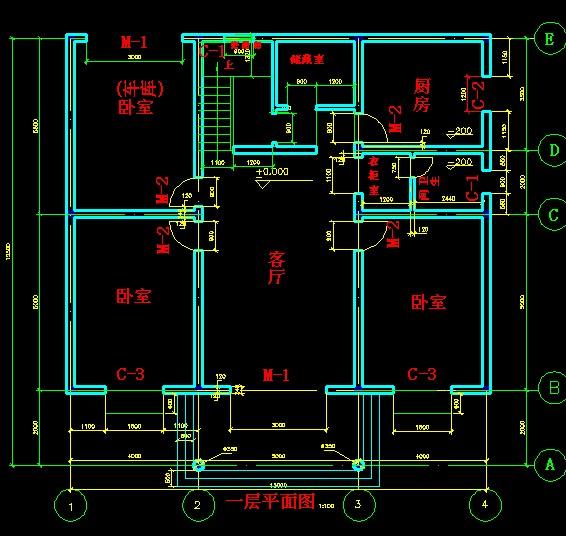 农村,一层楼房设计图