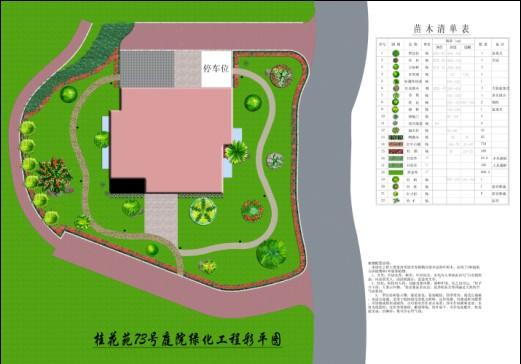 别墅绿化彩平图