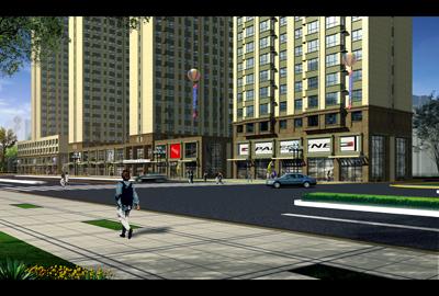 二层沿街商业效果图