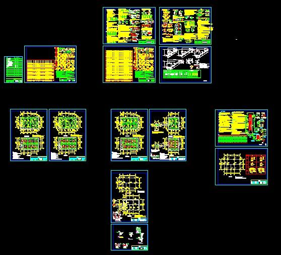 框架结构别墅图框架结构平面图框架结构楼板配筋图框架结构施工
