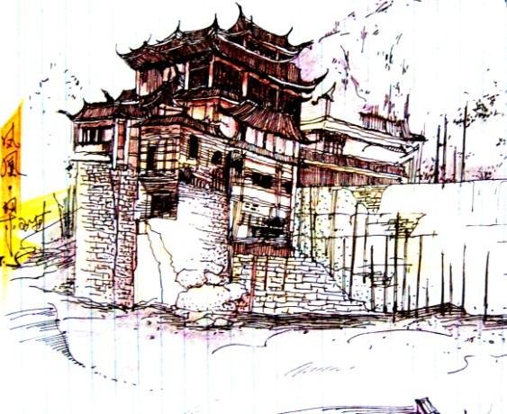 相关专题:手绘建筑图纸 手绘建筑立面图 建筑立面图手绘 手绘建筑图