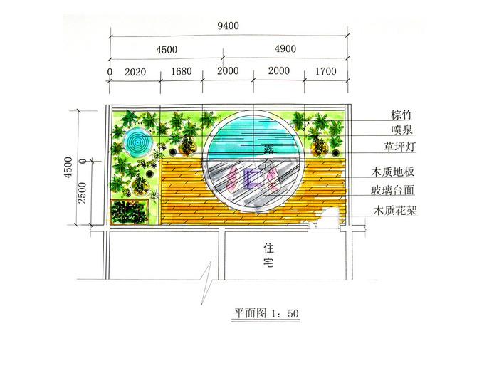 阳台平面图