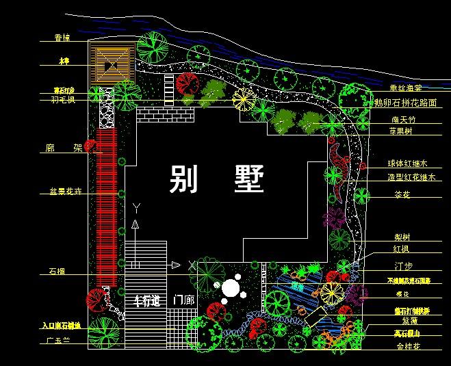 豪华别墅建筑设计施工图(共9张)-学路网-学习路上 有