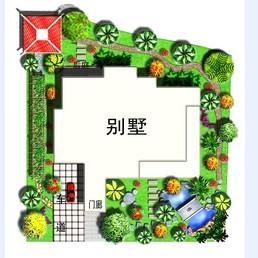 别墅庭院平面效果图图片