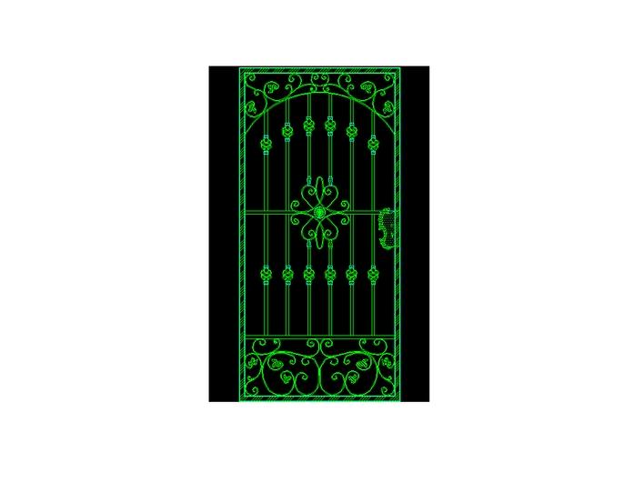 铁艺大门及铁艺围墙栏杆图案素材大全 欧式八柱圆拱形铁艺尖顶景观