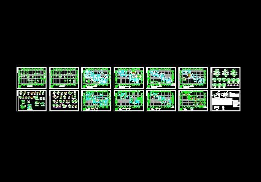 广州某河涌整治全套结构图(含施工措施及方法) 某高校九层教师住宅楼