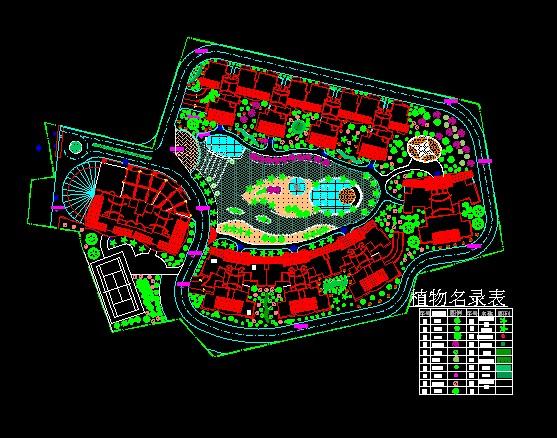 某别墅区在线设计图_CO土木绿化(原网易园林怎么树土木池画图纸图片