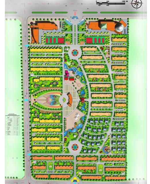 园林景观彩平图素材 新彩隧道规划图 室内彩平图块  所属分类:建筑