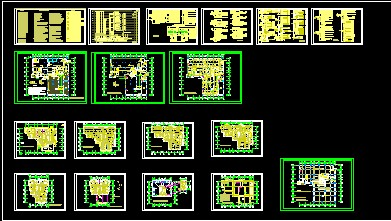 高层办公楼带人防地下室施工图