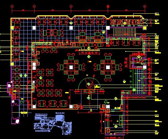 """这是一套完整的酒店大堂的施工图cad块2维""""面创建怎么图片"""