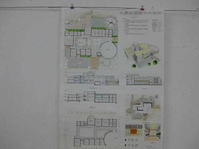 大学生建筑设计手绘图