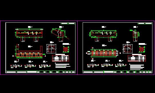 某學校4x30m先簡支后連續箱梁橋畢業設計 寧安市寧西橋設計施工圖紙圖片
