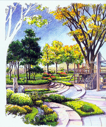 园林手绘图