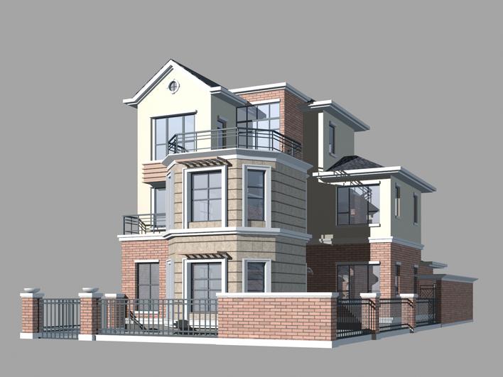 4个别墅的3dsmax模型_cad图纸下载-土木在线