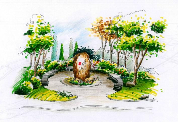 滨水景观节点效果图,很好的设计方案(造型花坛) 建筑,结构,管网,室内