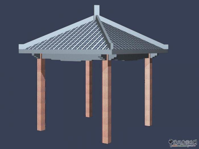 西南地区某钢筋混凝土结构四角方亭全套施工图(建施+结施) 重庆一小区