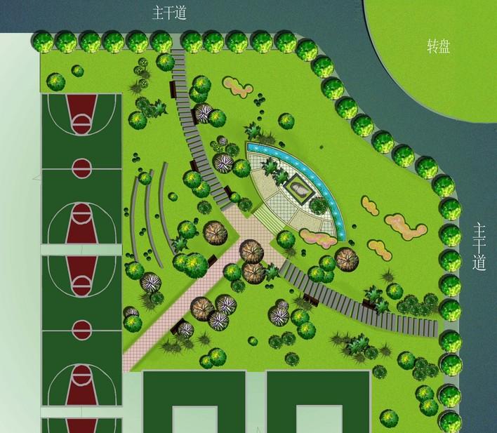景观平面效果图-手绘景观平面效果图_景观平面图用什么软件_园林景观