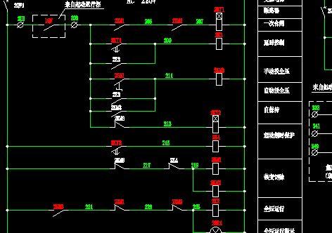 70m2电收尘器控制柜主回路电气原理图