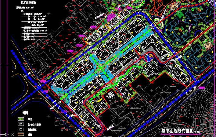 小区商业步行街总平面图片