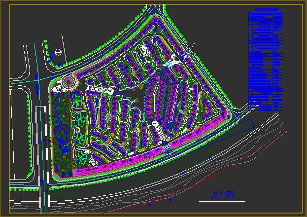某住宅小区规划平面