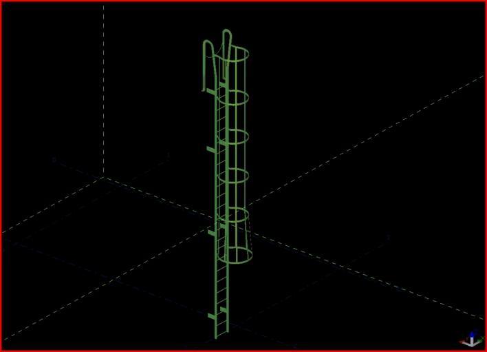 钢爬梯模型