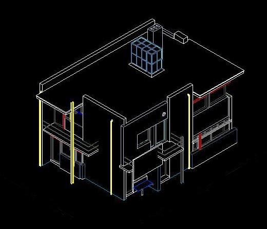 施罗德住宅cad图纸及模型