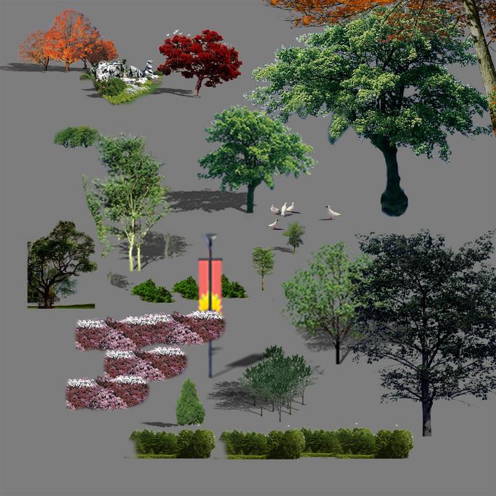 素材ps景观素材景观小品ps素材广场平面图ps素材ps门头设计ps廊架平面