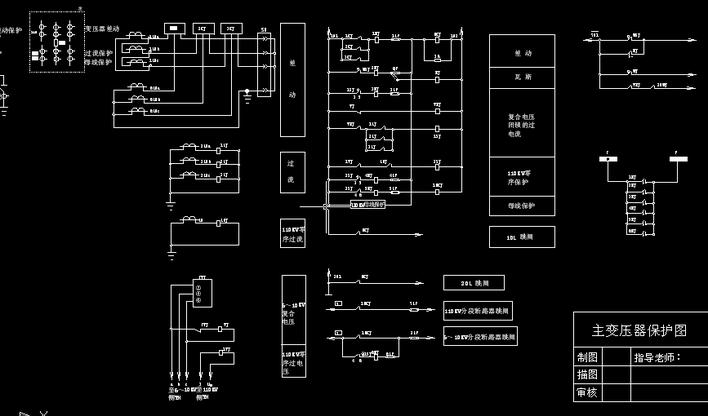 主接线继电保护设计 630箱变基础图 欧式箱变基础图 美式箱变基础图