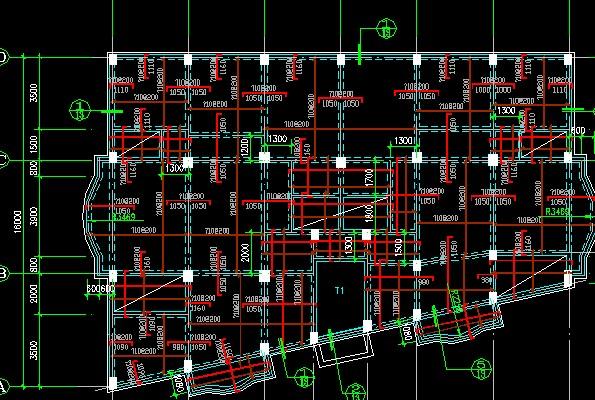 某商城框架结构施工图 一榀框架结构施工图 建筑框架结构施工图 钢