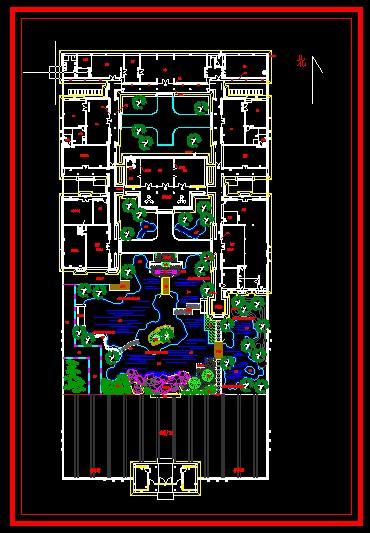图纸 园林设计图 江南园林庭院  上传时间:2009-06-23 所属分类:园林