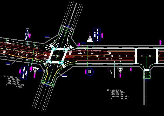 某道路交通标志标线平面布置图