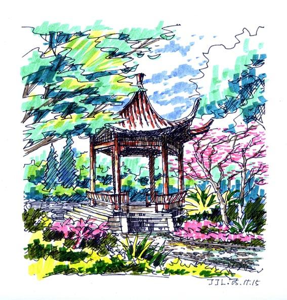 北京圣都维也纳环境景观设计手绘图 100个别墅及庭院手绘图 某大学