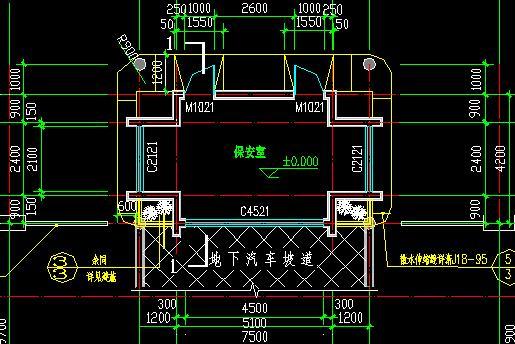 某地区车间保安室框架结构设计施工图 某公司自主设计Φ600保安过滤器