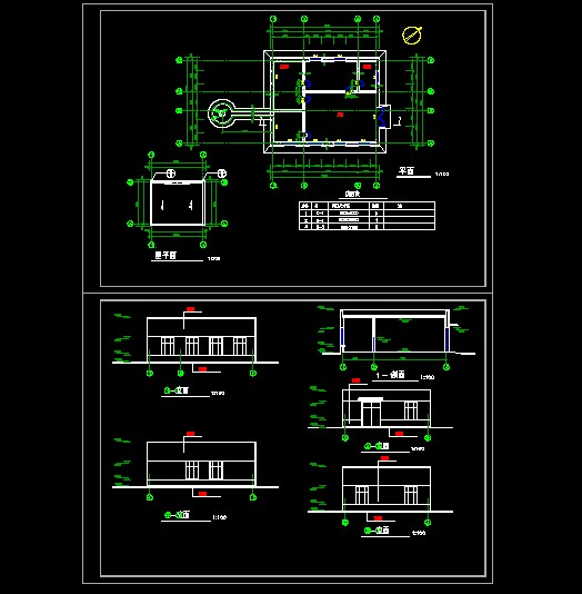 图纸 建筑图纸  锅炉房全套建筑图   锅炉房设计图纸.图片
