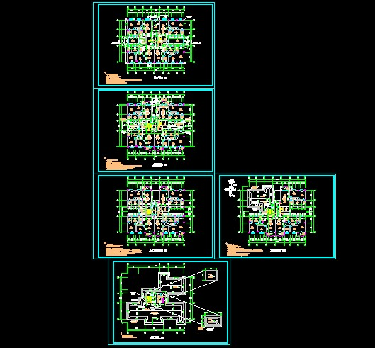 12层商住楼,框架结构; 一榀框架结构图;