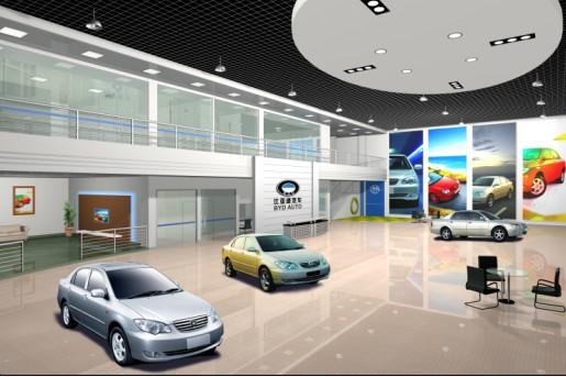 比亚迪汽车展厅效果图