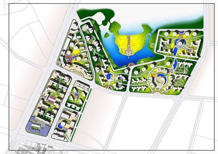 小区景观设计平面图 欧式小区景观平面图 小区景观节点平面图 景观