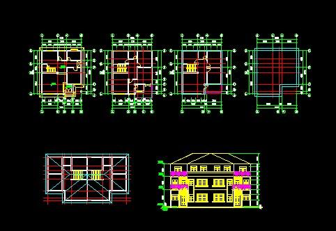 简介:三层联体别墅,坡屋顶