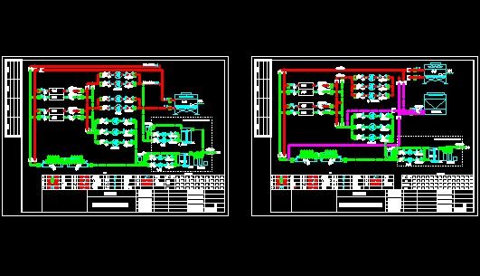 地源热泵系统原理图(土壤蓄冷,空气源)