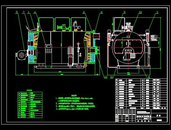 全自动燃油(气)蒸汽锅炉设计图图片