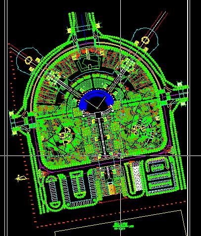 商业广场总平面图