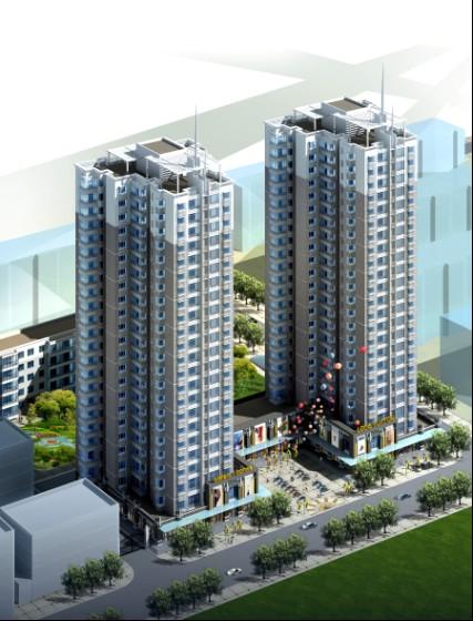 高层住宅装修效果图  所属分类:建筑图纸  塔式住宅 效果图相关下载图片