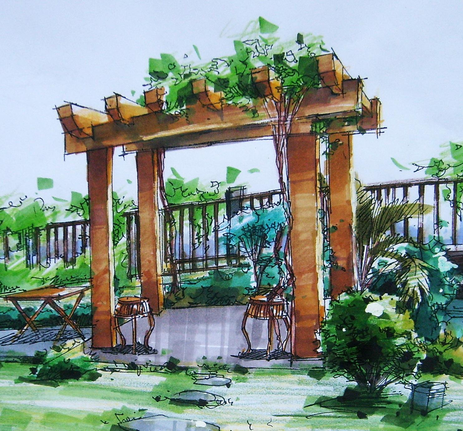 相关专题:手绘牌坊手绘总图手绘立面手绘亭子园林