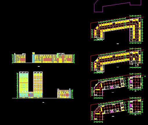 某商场建筑设计_cad图纸下载-土木在线