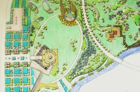图纸 园林设计图  快题练习   华中科技大04年风景园林方向考研题练习