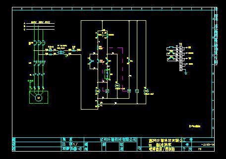 配电箱控制线路图 单启动线路图 电机启动线路图 降压启动线路图 汽车